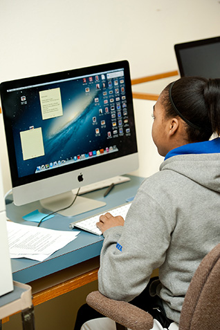 Broadcast Media student