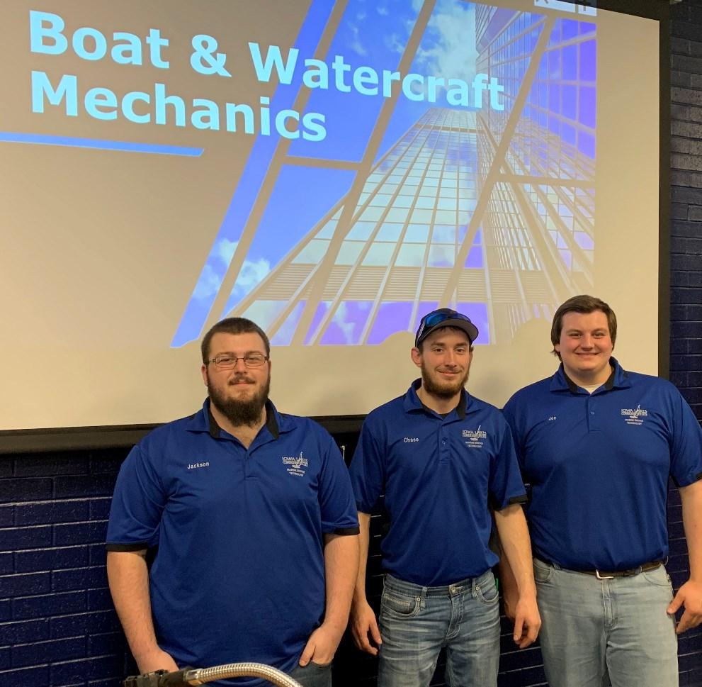 Boat and Watercraft Mechanics students