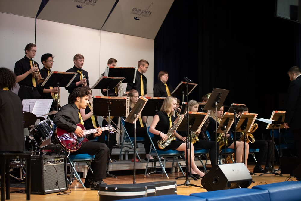 Local Jazz Band competing in the Iowa Lakes Jazz band Contest. Photo Provided by Dave Petrick, CPP