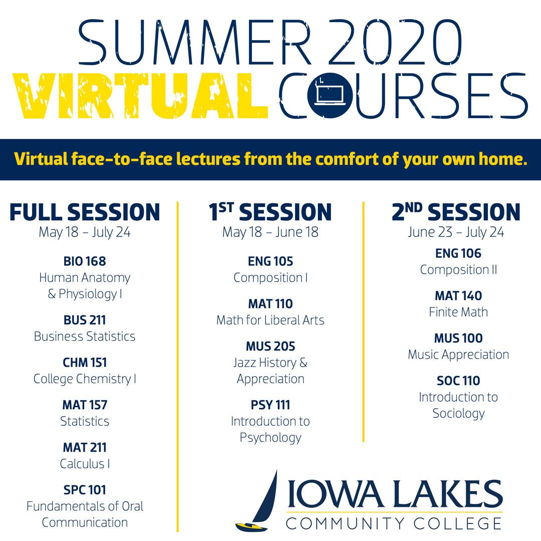 2020 Summer Virtual Classes