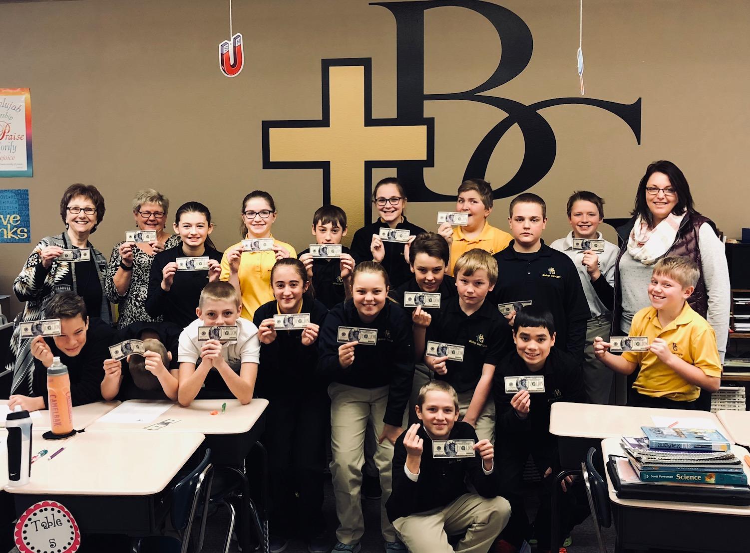 Bishop Garrigan Students