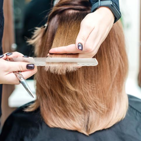 Hair cut at Laker Salon
