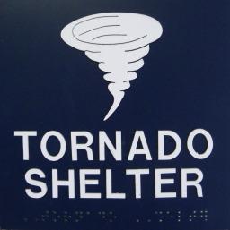 tornado shelter signage