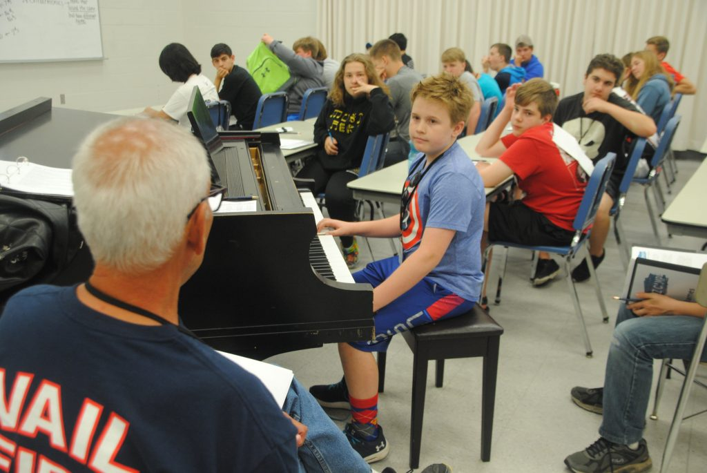 Students at masterclass during previous Reggie Schive Jazz Camp
