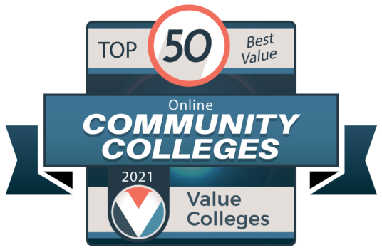 Top 50 Best Online Community Colleges logo